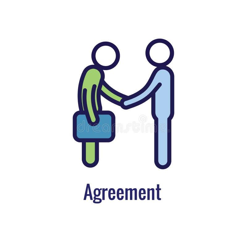 ?cone novo do processo de neg?cios   Fase do acordo do cliente ilustração stock
