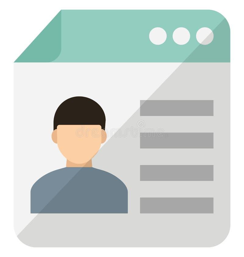 ?cone pessoal do vetor do local do blogue que pode facilmente alterar ou editar ilustração royalty free