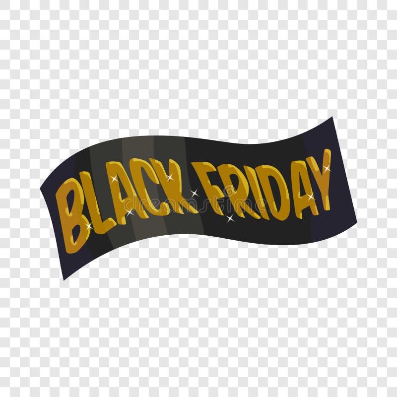 ?cone preto de sexta-feira da fita, estilo dos desenhos animados ilustração stock