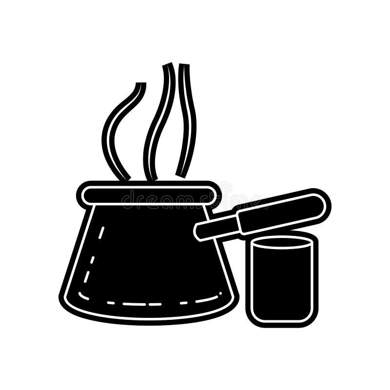 ?cone ?rabe do caf? Elemento de ?rabe para o conceito e o ?cone m?veis dos apps da Web Glyph, ?cone liso para o projeto do Web si ilustração stock