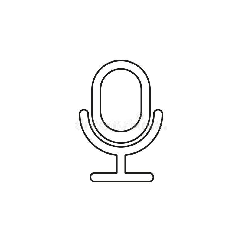 ?cone retro do microfone - m?sica sadia ilustração stock