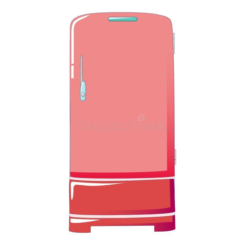 ?cone retro do refrigerador, estilo dos desenhos animados ilustração stock