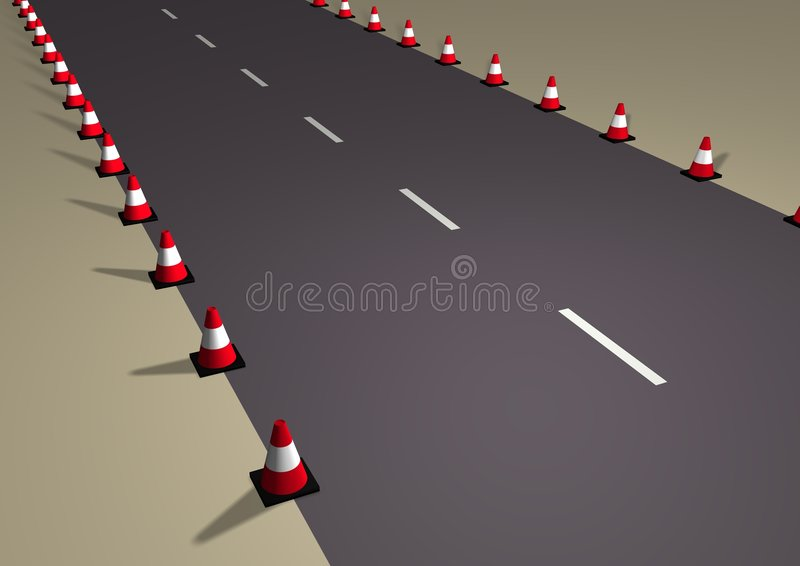 Download Cone Road stock illustration. Image of path, safety, works - 1770820