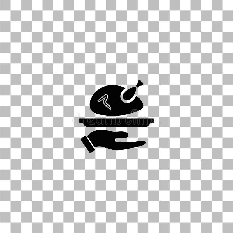 ?cone Roasted do peru horizontalmente ilustração do vetor