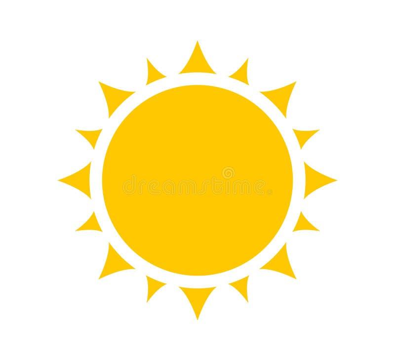 ?cone, s?mbolo ou logotipo de Sun ilustração stock