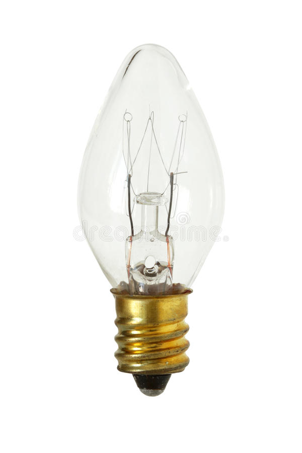 Cone Shape Incandescent Lamp isolated on white background clipping path. Cone Shape Incandescent Lamp Bulb isolated on white background clipping path royalty free stock photography