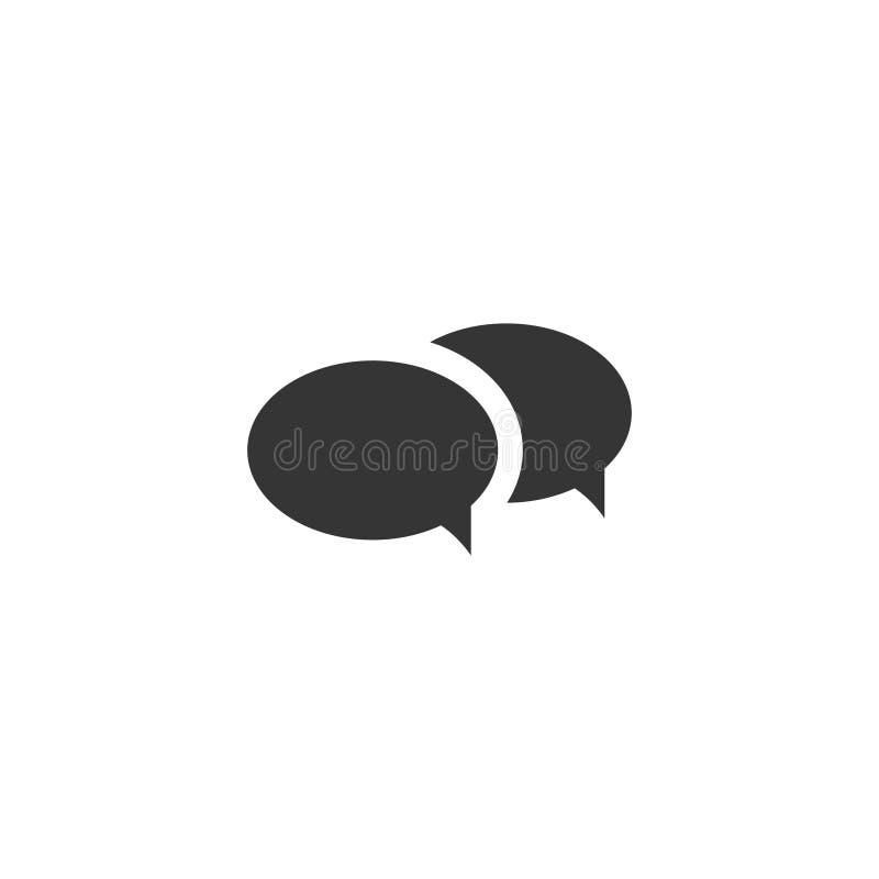 ?cone simples da bolha do bate-papo ilustração royalty free