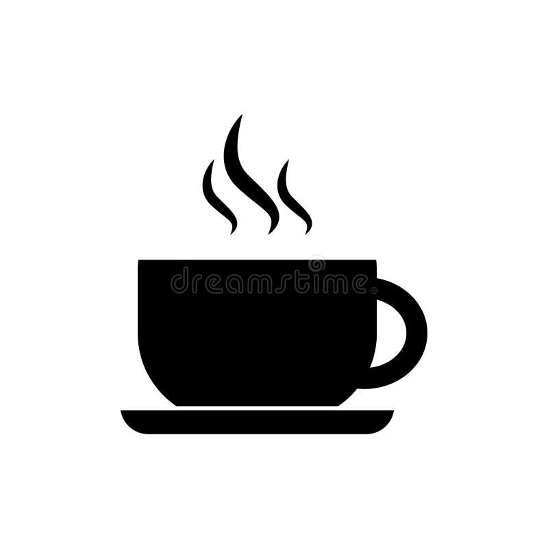 ?cone simples do caf? do vetor isolado no fundo branco ilustração stock