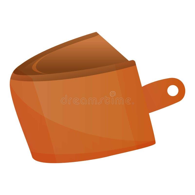 ?cone vazio da carteira, estilo dos desenhos animados ilustração do vetor