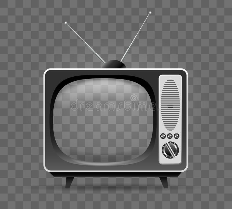 ?cone velho da televis?o ilustração do vetor