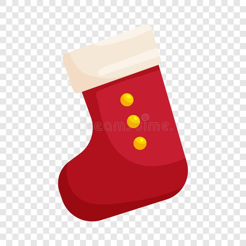 ?cone vermelho da pe?ga do Natal, estilo dos desenhos animados ilustração do vetor