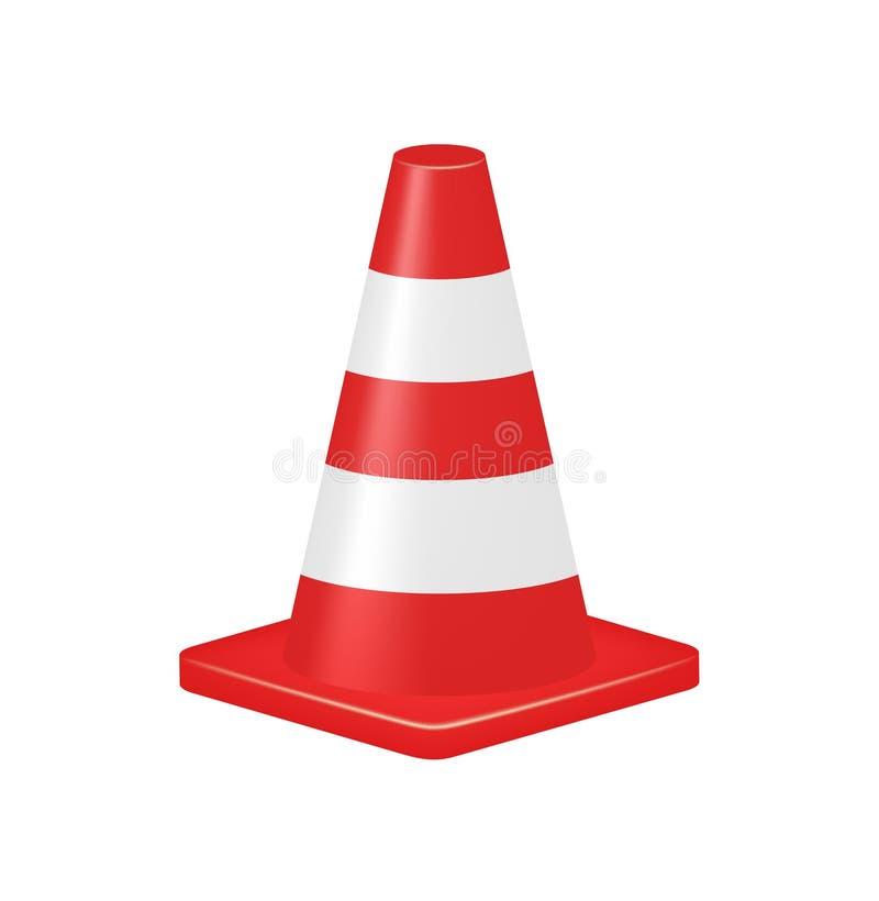 Cone vermelho do tráfego ilustração royalty free