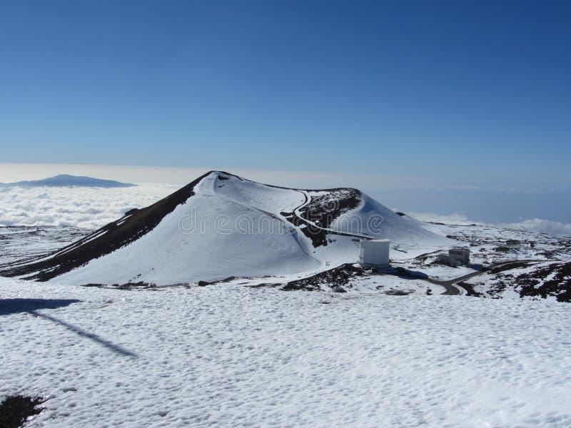 Cone vulcânico, Mauna Kea, ilha grande, Havaí imagem de stock