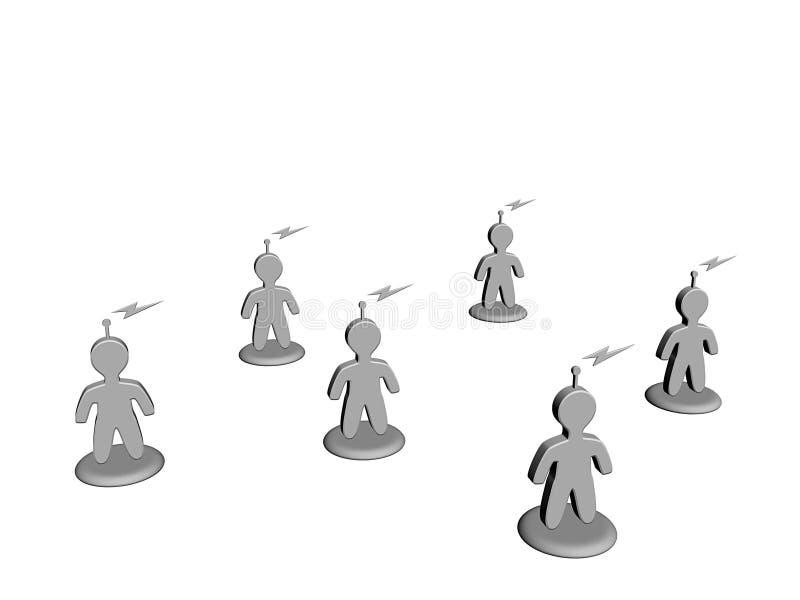 Conectado stock de ilustración