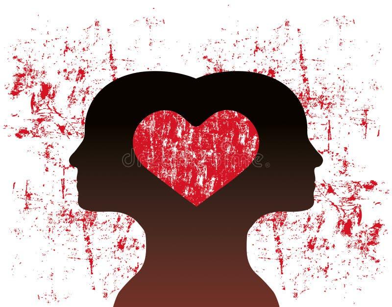 Conectado com o amor ilustração royalty free