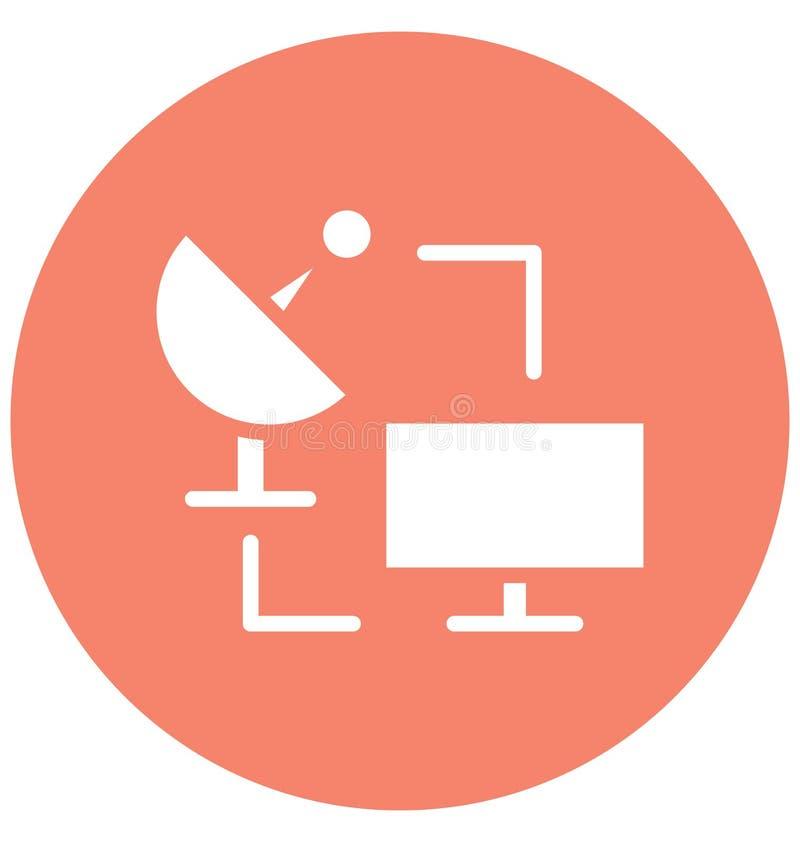 Conectado con el icono aislado Internet del vector que puede modificarse o corregir fácilmente conectado con el icono aislado Int ilustración del vector
