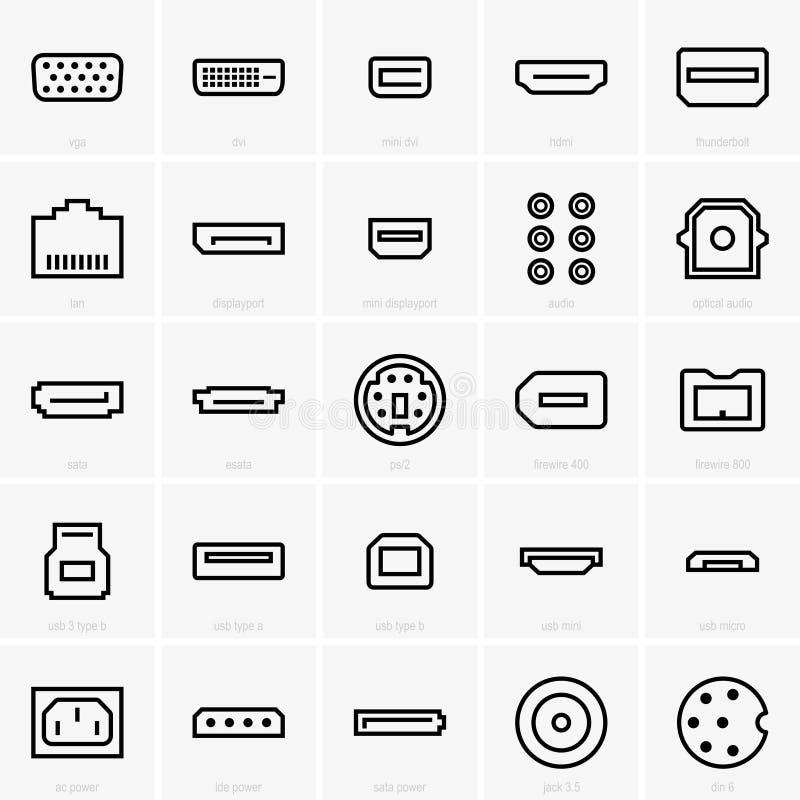 Conecte ícones ilustração do vetor