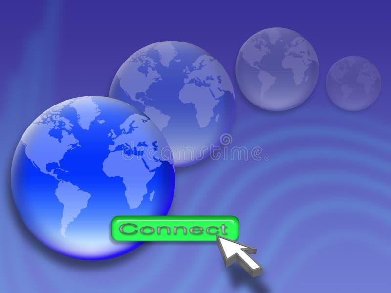 Conecte ilustração stock