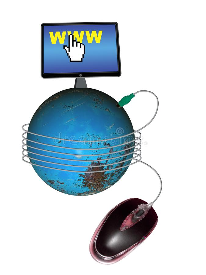 Conecte ao mundo foto de stock