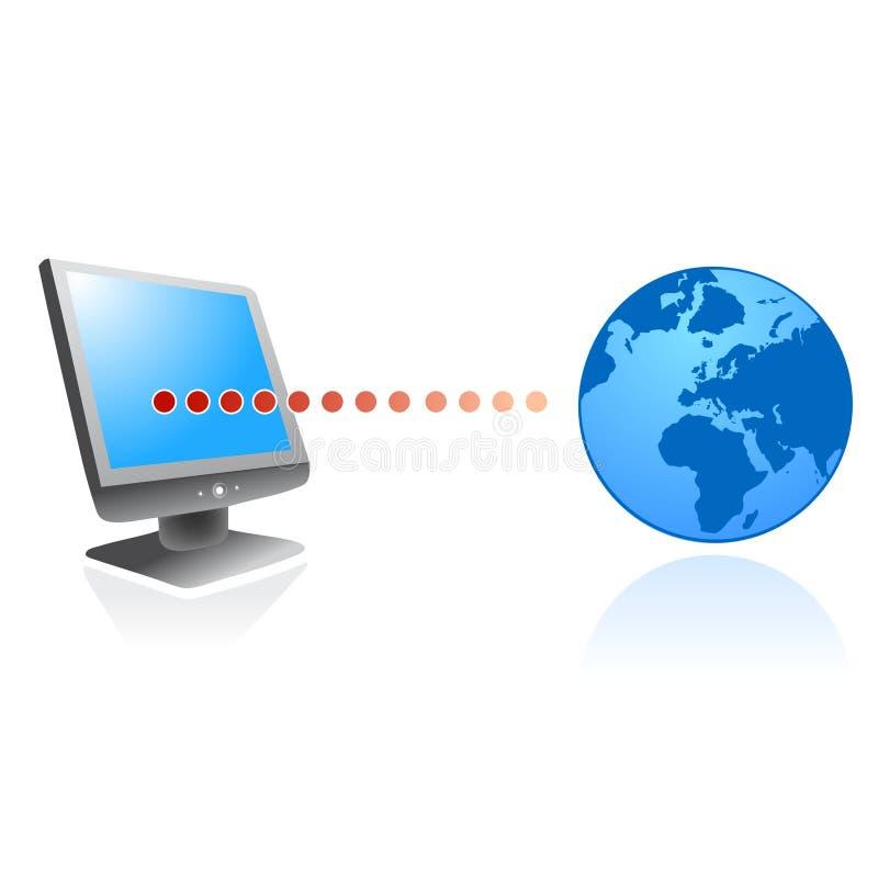 Conecte ao vetor do ícone do Internet ilustração royalty free