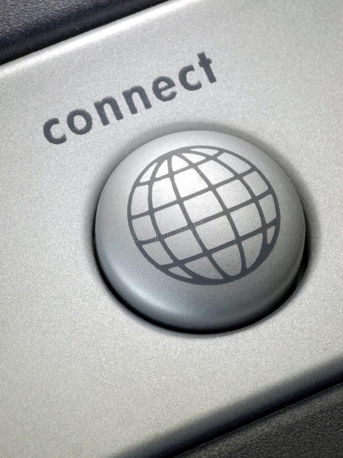 Conecte el botón 2 fotografía de archivo