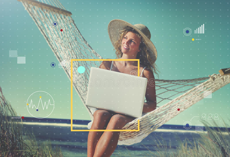 Conecte el concepto de la forma de vida de Internet de la tecnología de comunicación fotos de archivo libres de regalías