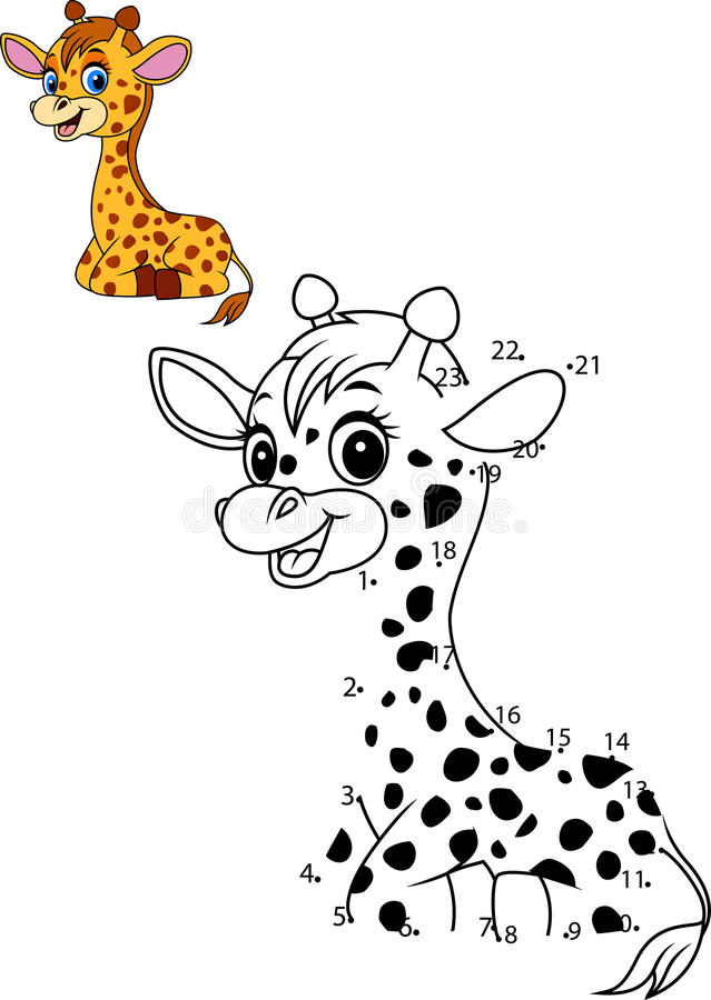 Conecte El Número Para Dibujar El Juego Educativo Animal Para Los ...