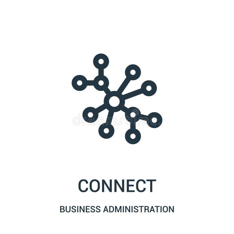 conecte el vector del icono de la colección de la administración de empresas La línea fina conecta el ejemplo del vector del icon ilustración del vector