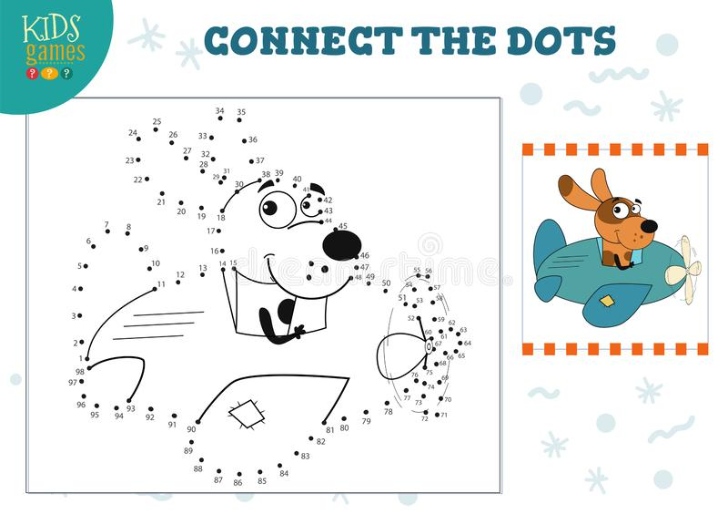 Conecte a ilustração do vetor do jogo das crianças dos pontos Atividade de educação pré-escolar das crianças ilustração do vetor