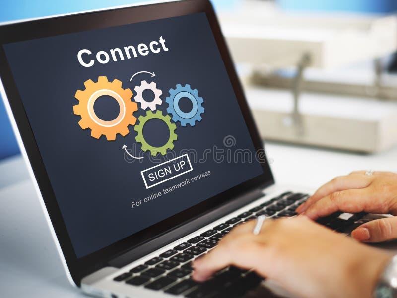 Conecte la interacción Team Teamwork Concept imagen de archivo libre de regalías