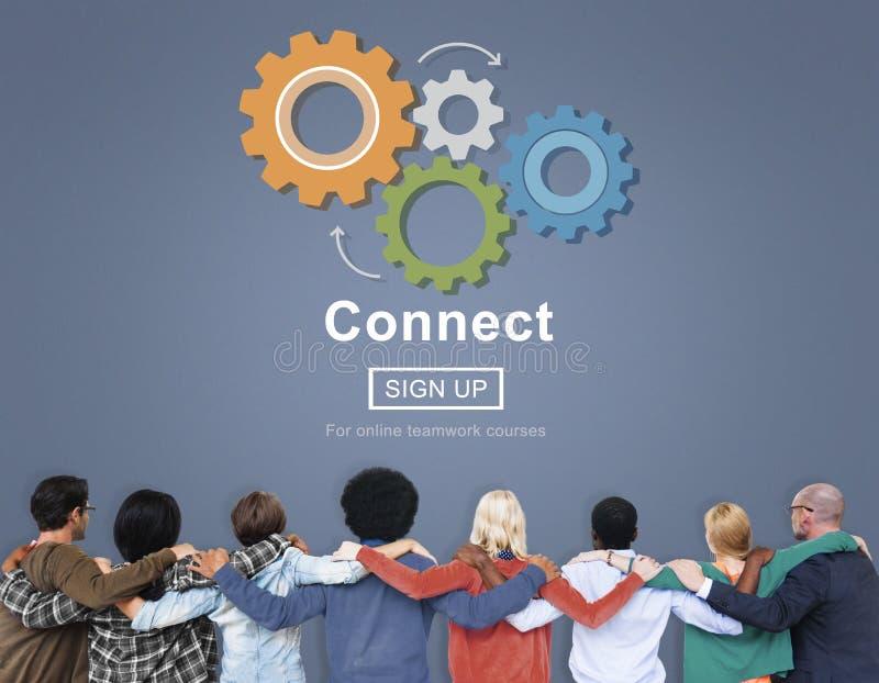 Conecte la interacción Team Teamwork Concept foto de archivo libre de regalías