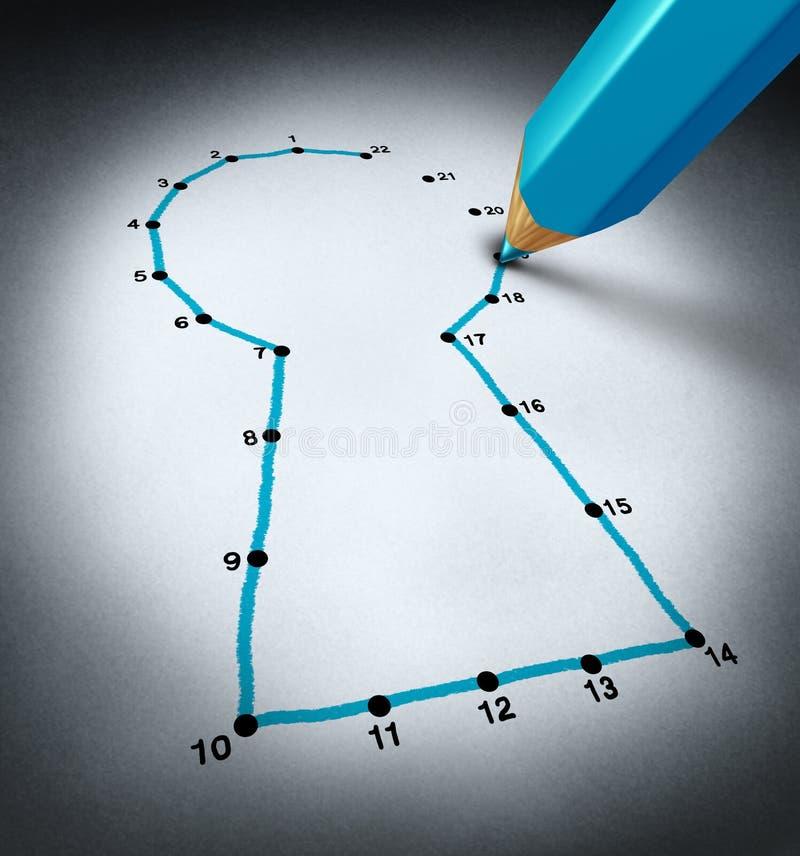 Conecte los puntos ilustración del vector