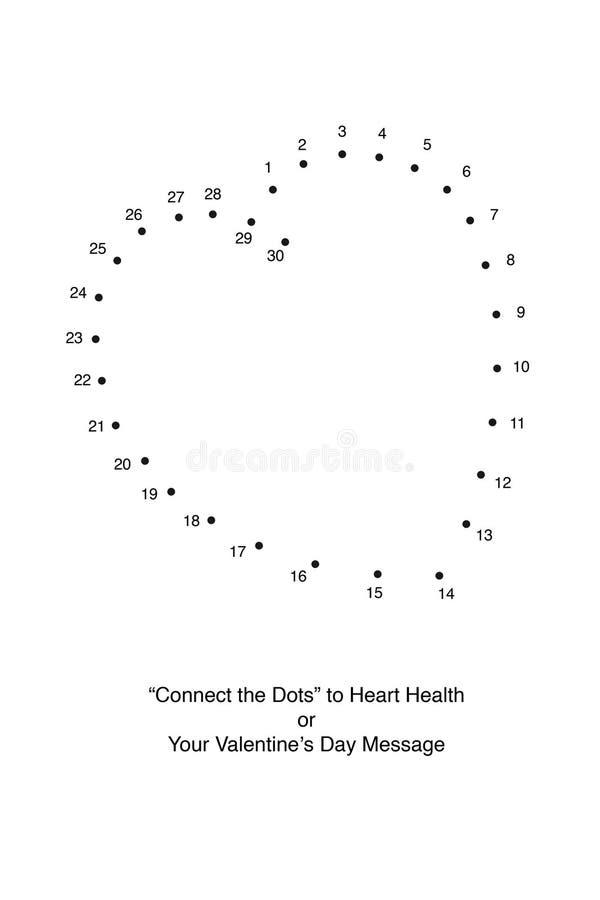 Conecte los puntos con un corazón foto de archivo libre de regalías