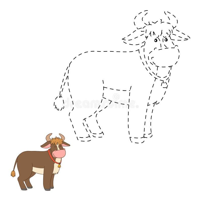 Conecte los puntos (el toro) stock de ilustración