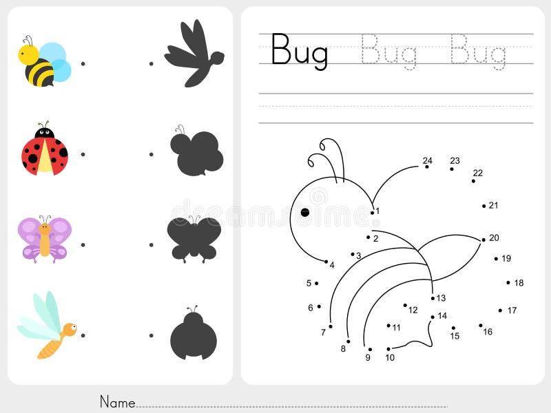 Conecte los puntos - hoja de trabajo para la educación libre illustration