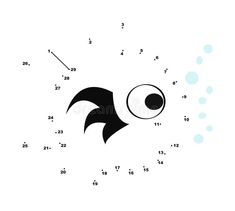 Conecte los puntos que colorean la paginación ilustración del vector