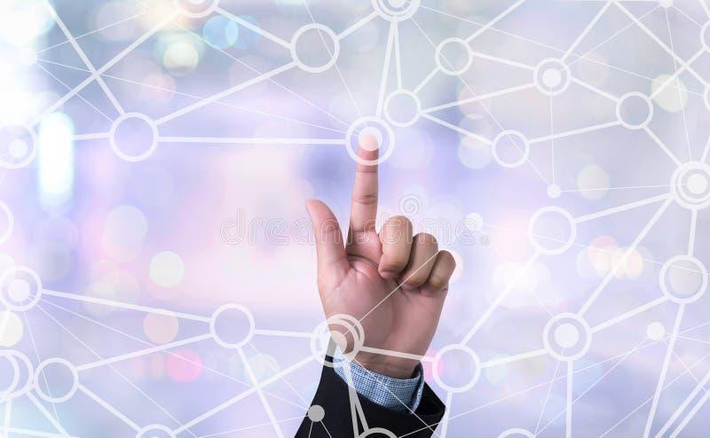 CONECTE (medios conectados de la conexión de la comunicación) fotografía de archivo libre de regalías