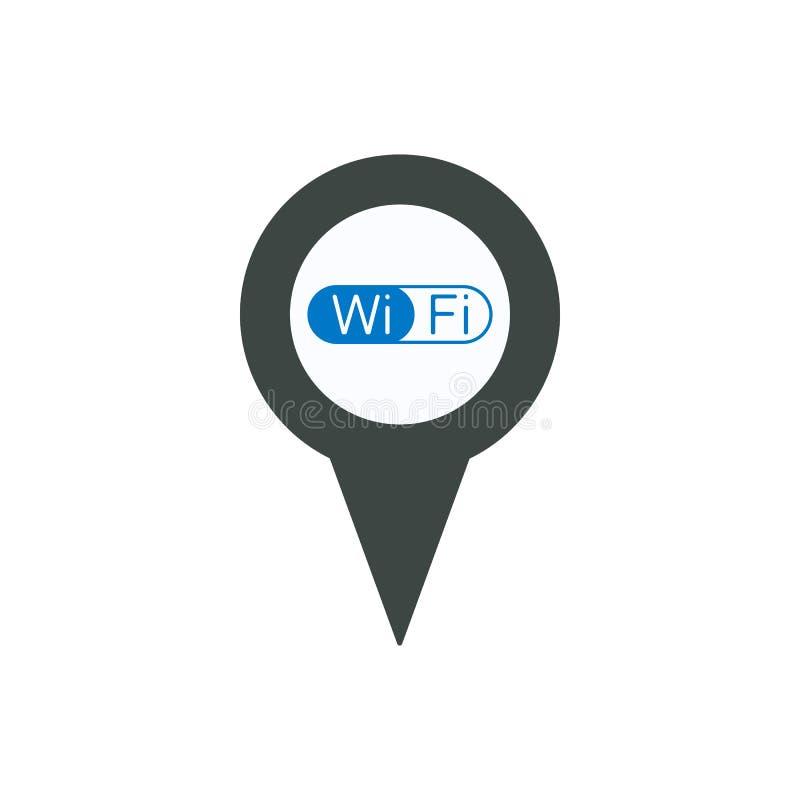 Conecte o ícone do usb do porto do ponteiro do pino do marcador do lugar ilustração stock