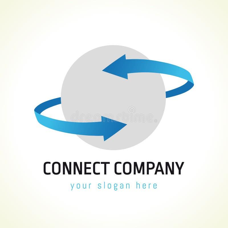 Conecte o logotipo ilustração do vetor