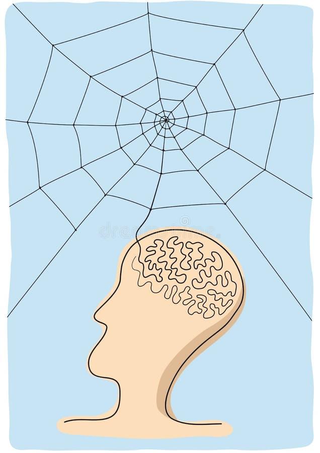 Conecte o pensamento ilustração do vetor