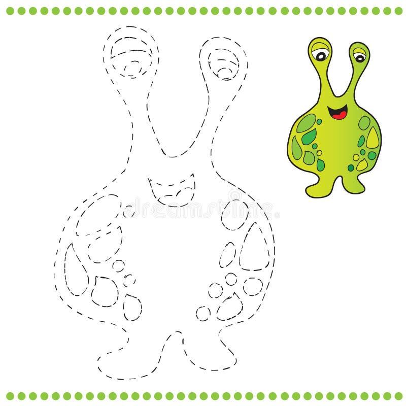 Conecte os pontos e a página da coloração ilustração do vetor