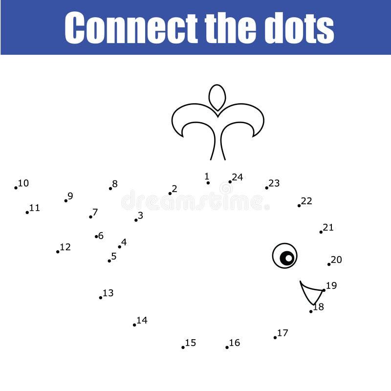 Conecte os pontos pelo jogo educacional das crianças dos números ilustração stock