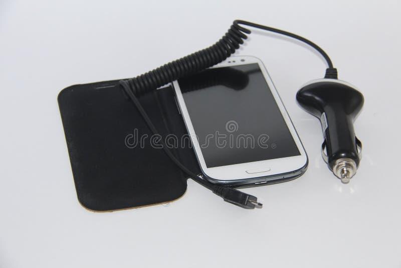 Conecte seu móbil ao carro imagem de stock royalty free