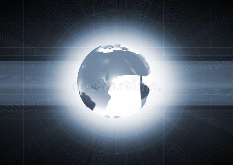 Conecte a tierra la emisión con la luz interna stock de ilustración