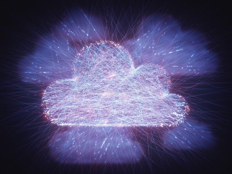 Conectividad de red computacional de la nube libre illustration