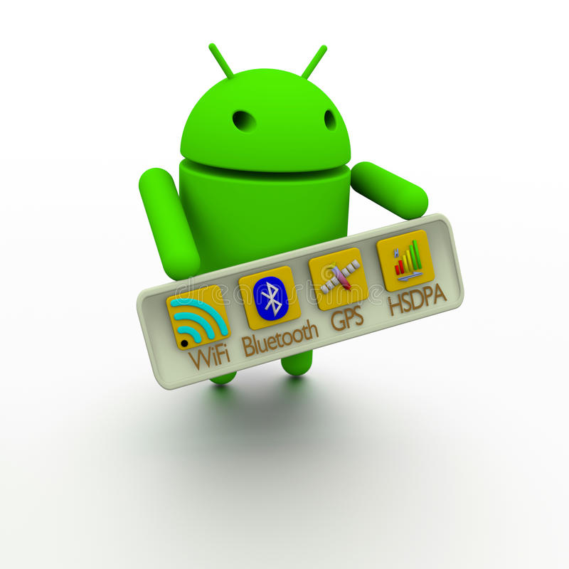 Conectividad sin hilos androide fotos de archivo libres de regalías