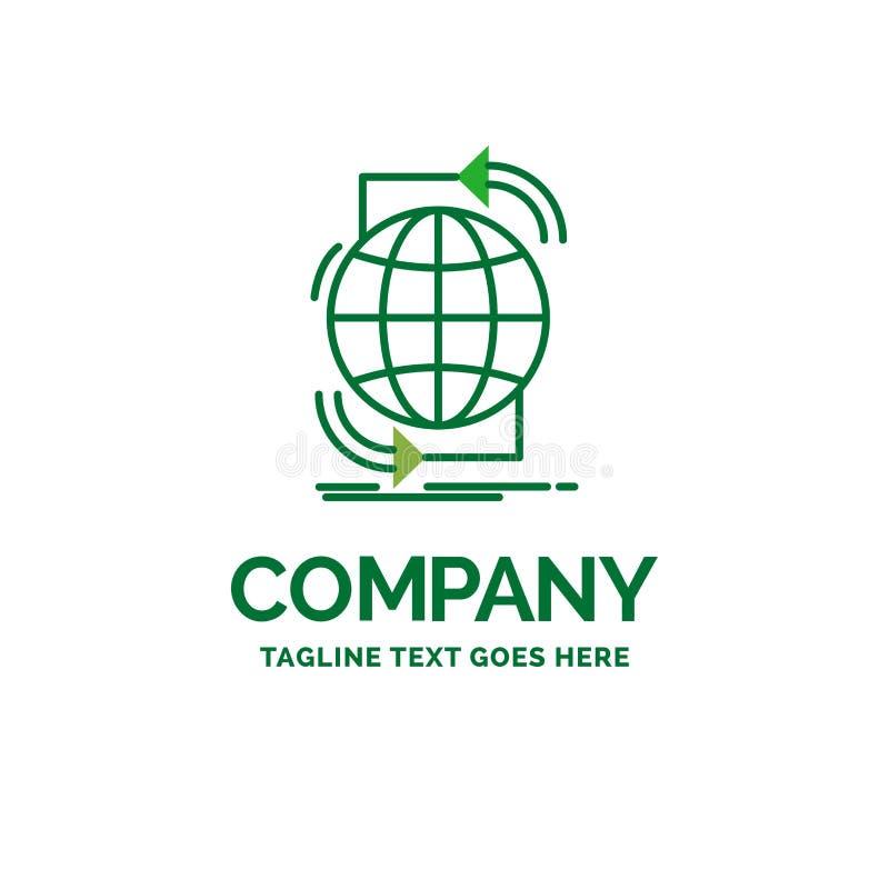 Conectividade, global, Internet, rede, logotipo liso do negócio da Web ilustração stock