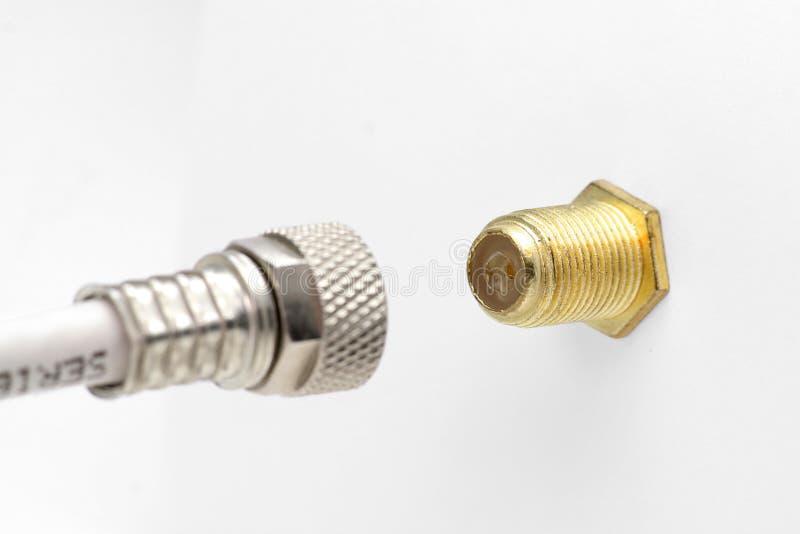 Conector coaxial imagen de archivo