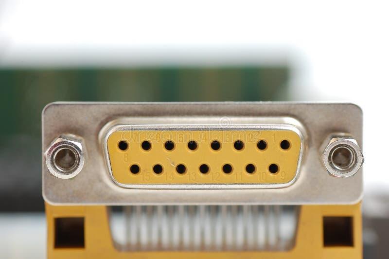 Conector da porta de série do computador fotografia de stock
