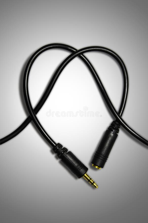 Conector de audio del alambre foto de archivo